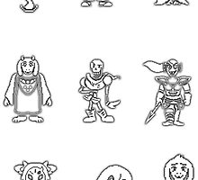 Undertale Stickers by paulwall47