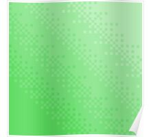 Green Pixel wave Poster