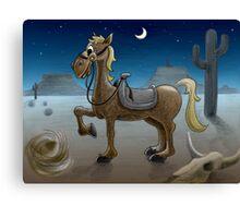 Desert steed Canvas Print