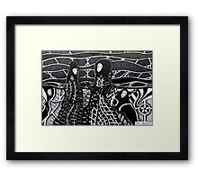 248 - MEETING THE WICKED QUEEN - DAVE EDWARDS - INK - 2013 Framed Print