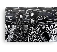 248 - MEETING THE WICKED QUEEN - DAVE EDWARDS - INK - 2013 Canvas Print