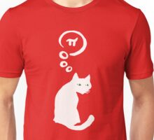 Lucky Cat with thought bubble thinking of Pi Unisex T-Shirt