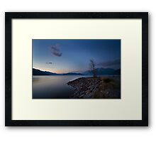 Harrison lake Framed Print
