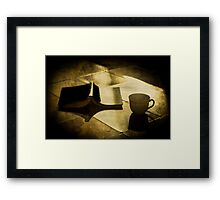 A break from reading Framed Print
