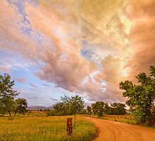 Country Road Into The Storm Front by Bo Insogna