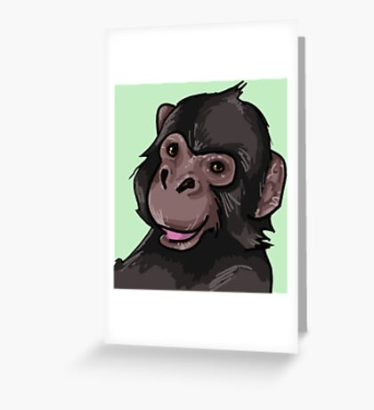 Chimpanzee Smiles Greeting Card