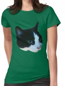 Cute Cow Cat Womens Fitted T-Shirt