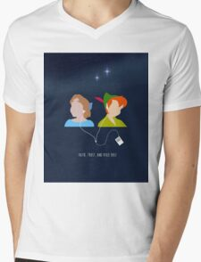 Peter Pan and Wendy iPod Mens V-Neck T-Shirt