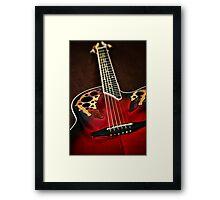 Acoustical Red Framed Print