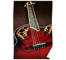 Acoustical Red Poster