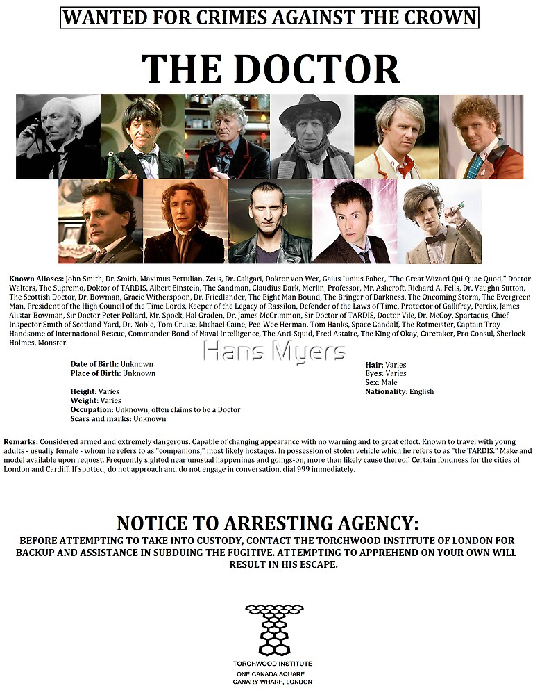 Wanted: The Doctor by Hans Myers