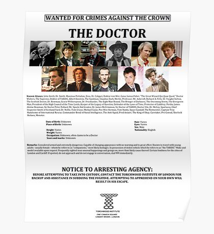 Wanted: The Doctor Poster