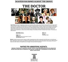 Wanted: The Doctor Photographic Print