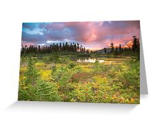 Early autumn meadow Greeting Card