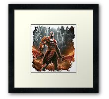 warrior game Framed Print