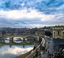 Break In The Storm - Rome Italy by Mark Tisdale