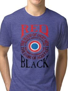 Red and Black Tri-blend T-Shirt