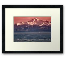 Majestic Mt Baker and downtown Vancouver Framed Print