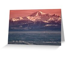 Majestic Mt Baker and downtown Vancouver Greeting Card