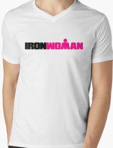 IRONWOMAN Triathlon Mens V-Neck T-Shirt
