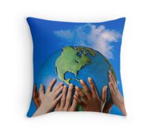 One Love Around The World Throw Pillow