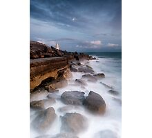 Moonlit Needle at Portland Bill Photographic Print