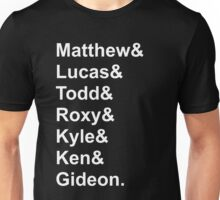 Seven Evil Exes Jetset Unisex T-Shirt