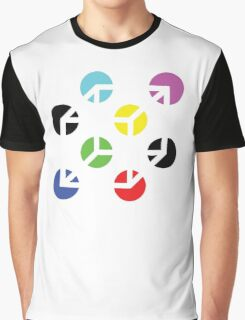 Gestalt Continuity Cube Coloured Graphic T-Shirt