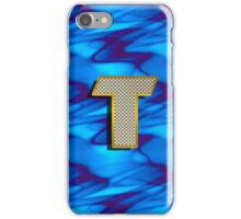 Personalized gift for him with monogram T iPhone Case/Skin