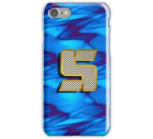 Monogram S personalized gift for him iPhone Case/Skin