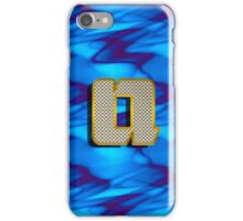 Monogram Q personalized gift for him iPhone Case/Skin