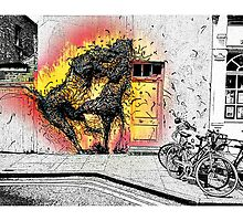 Cat fight in Shoreditch! by Tim Constable