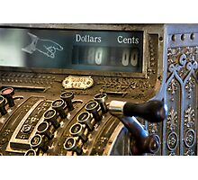 Antique Cash Register Photographic Print
