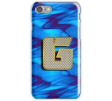 Monogram G personalized gift for him iPhone Case/Skin