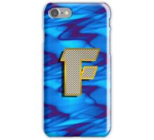 Monogram F personalized gift for him iPhone Case/Skin