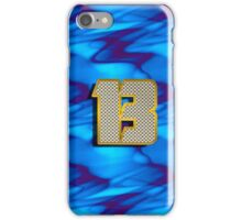 Monogram B personalized gift for him iPhone Case/Skin