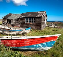 Shack And Old Boats by printscapes