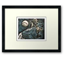 """The Force Behind The Knuckleball"" Framed Print"