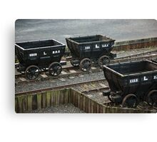 Old Railway Storage Cars Canvas Print