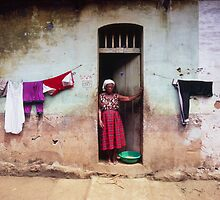 Woman In Front Of The House by printscapes
