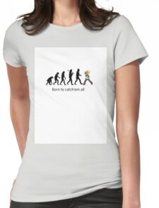 Pokemon evolution Womens Fitted T-Shirt