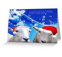 Sheepish Christmas Wishes Greeting Card