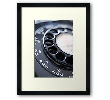Old-Fashioned Telephone Framed Print