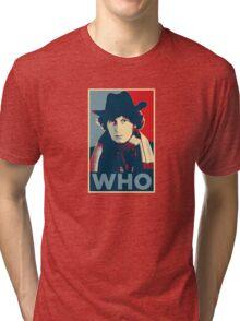 Doctor Who Tom Baker Barack Obama Hope style poster Tri-blend T-Shirt