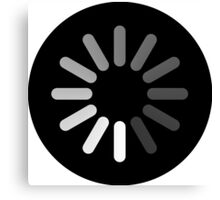 Apple Mac Loading Progress Wheel Symbol Canvas Print