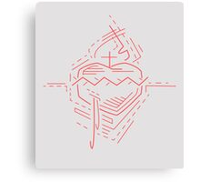 Jesus Christ Sacred Heart illustration Canvas Print