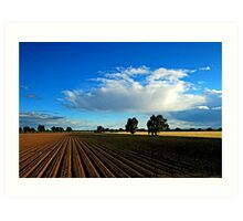 Wide Open Plains Farmland Art Print