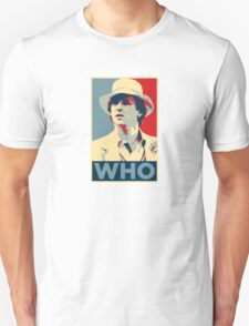 Doctor Who Peter Davison Barack Obama Hope style poster Unisex T-Shirt