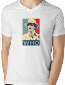 Doctor Who Peter Davison Barack Obama Hope style poster Mens V-Neck T-Shirt