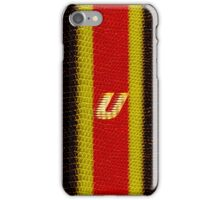 Monogram U personalized gift for him iPhone Case/Skin